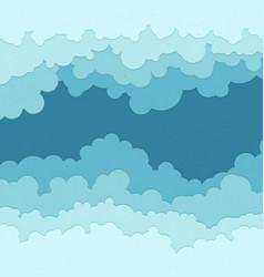 flat cloud frame set of circle blue vector image