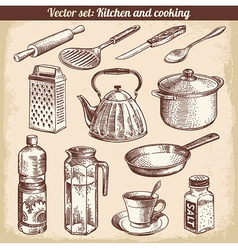 Kitchen and cooking vector