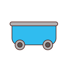 roller coaster wagon isolated icon vector image