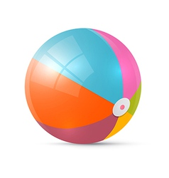 Colorful Retro Beach Ball Isolated on White vector image
