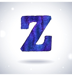 Watercolor letter z vector