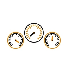 Performance measurement cars speed icon vector