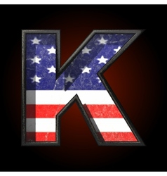 American metal figure k vector
