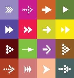 arrow set color vector image