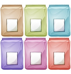 Bags in different colors vector image vector image