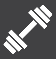 Barbell glyph icon fitness and sport dumbbell vector