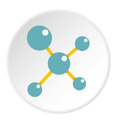 blue molecule structure icon circle vector image vector image