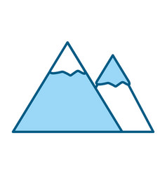 Blue mountain cartoon vector