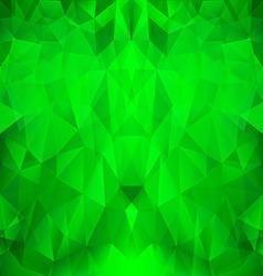 Bright green polygonal pattern vector