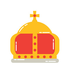 British crown of queen monarchy classic majestic vector