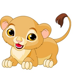 Cartoon lion cub vector