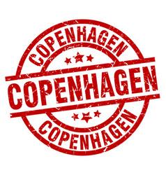 Copenhagen red round grunge stamp vector