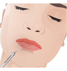 Cosmetological procedure image vector