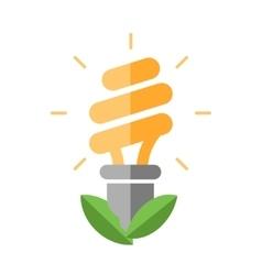 Energy saving - flat design single icon vector