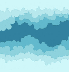 flat cloud frame set of circle blue vector image vector image
