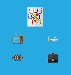 Flat icon lifestyle set of television router vector