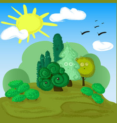 Forest edge for children vector