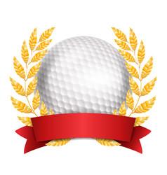 golf award sport banner background white vector image vector image