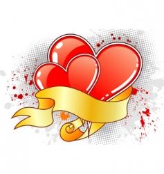 grunge Valentine's day background vector image