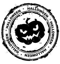 Halloween stamp vector image vector image