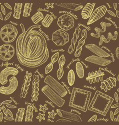hand drawn dark pasta background vector image vector image