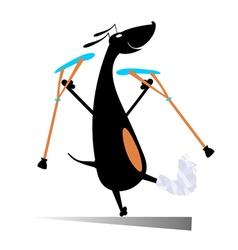 Injured dog vector