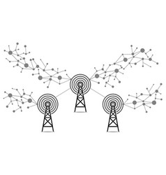 Internet signals communication technology vector