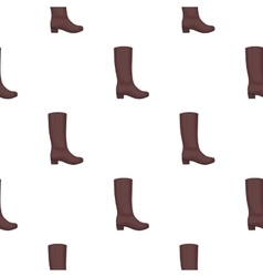 Knee high boots icon in cartoon style isolated on vector
