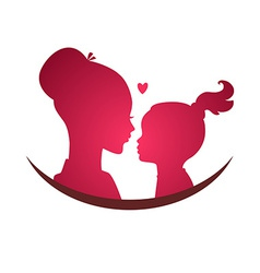 Mom and daughter love vector image vector image