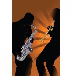 Music saxophone vector
