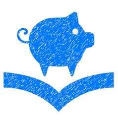 Pig knowledge icon grunge watermark vector
