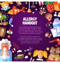 Poster with flat design allergen vector