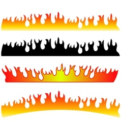 Silhouettes of Fire vector image