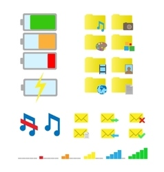 Smartphone flat icons vector
