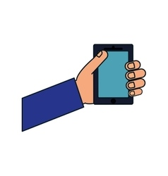 Smartphone gadget technology display icon vector