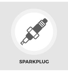 Sparkplug icon flat vector image vector image