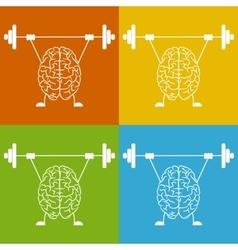 Train your brain vector