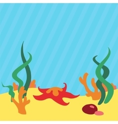 Underwater landscape background with place for vector image vector image