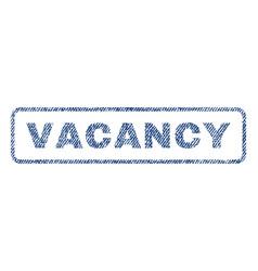 Vacancy textile stamp vector