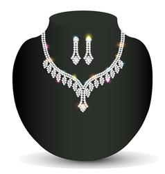 wedding silver necklace woman vector image vector image
