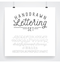 Fonts hand drawn lettering vector