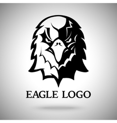 Eagle template for logo badge label etc vector