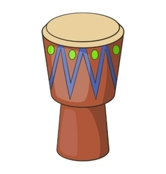 Ethnic drum icon cartoon style vector