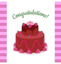 Happy Anniversary Strawberry Pie Multi Level vector image