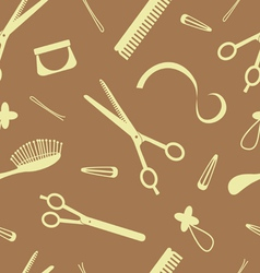Hairdressing pattern vector
