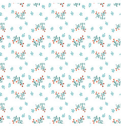 Modern floral textile pattern vector