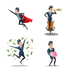 successful businessman cartoons vector image