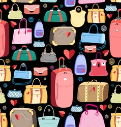 Bright pattern of bags vector