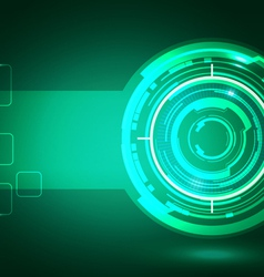 Abstract technology green background vector