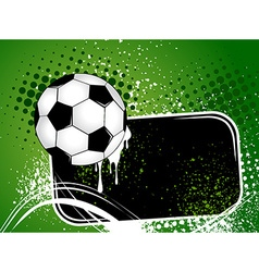 Football background with the ball wings vector